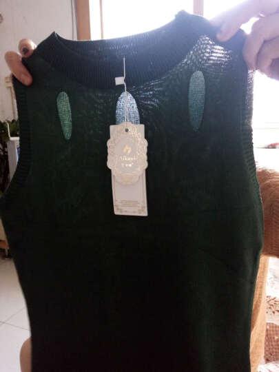 艾卡依 背心吊带女装2018春装新款性感针织衫无袖 667# 木绿 均码 晒单图