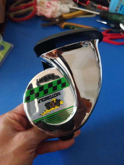 MOTOWOLF摩托车配件 摩托车喇叭 蜗牛喇叭改装配件 12v汽车电动车高音喇叭防水 红 晒单图