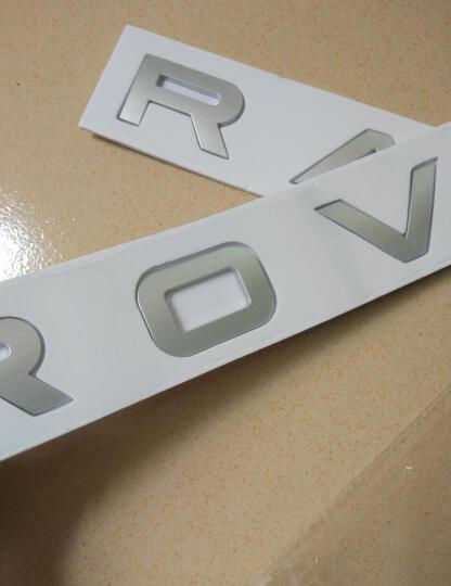 适用于路虎车标尾标字标标志贴国产奇瑞路虎改装极光发现神行后尾门标志 车尾标-绿底亮光银 晒单图