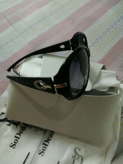 宋黛儿(SODEAR)太阳镜女款时尚大框女士墨镜防紫外线遮阳眼镜开车驾驶偏光太阳镜S22012 豹纹框 晒单图