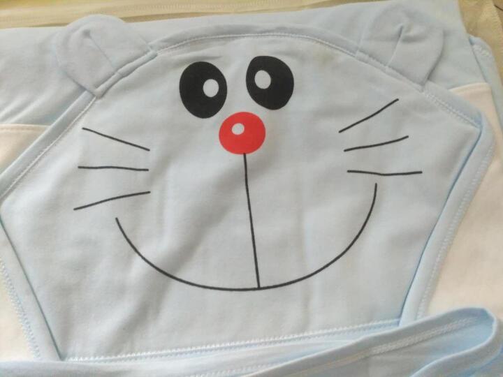 米奇皇子 婴儿抱被宝宝包被新生儿双层抱巾裹布 双层棉布-凯蒂猫粉色(90*90cm) 晒单图