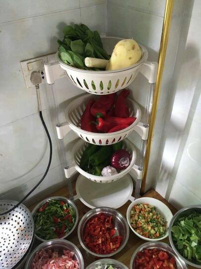 访客(FK)沥水厨房置物架收纳架果蔬篮塑料水果蔬菜置物架落地沥水篮 厨房多功能调味盒--红色 晒单图