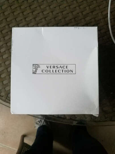 VERSACE COLLECTION 范思哲 男士黑色皮质做旧美杜莎头像板扣皮带腰带 V910226 VM00219 V000V 105cm 晒单图