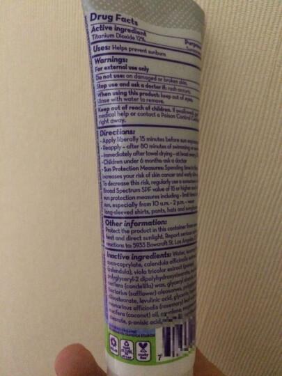 加州宝宝 California Baby 婴幼儿童无香防晒霜 敏感肌肤专用 SPF30 美国 51g 晒单图