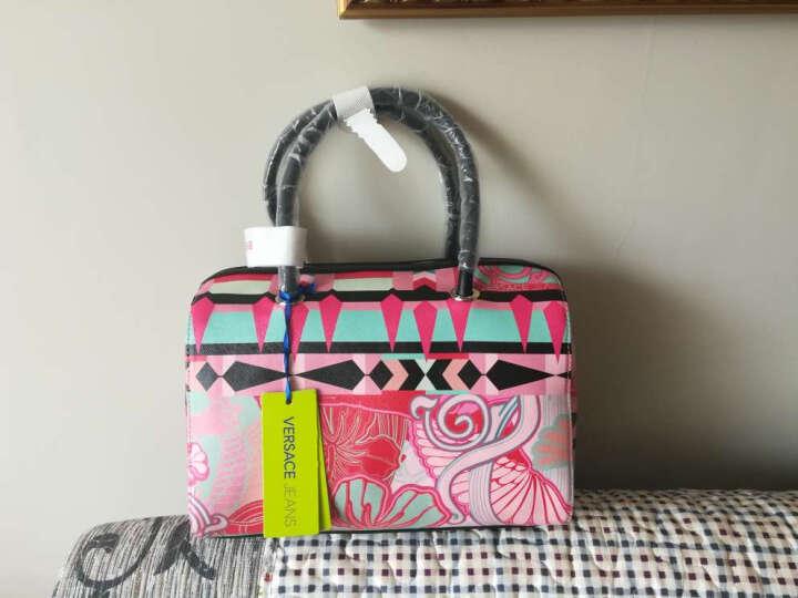 VERSACE JEANS 范思哲 女士粉色PVC手提休闲包 E1VPBBUA 75616 400 晒单图