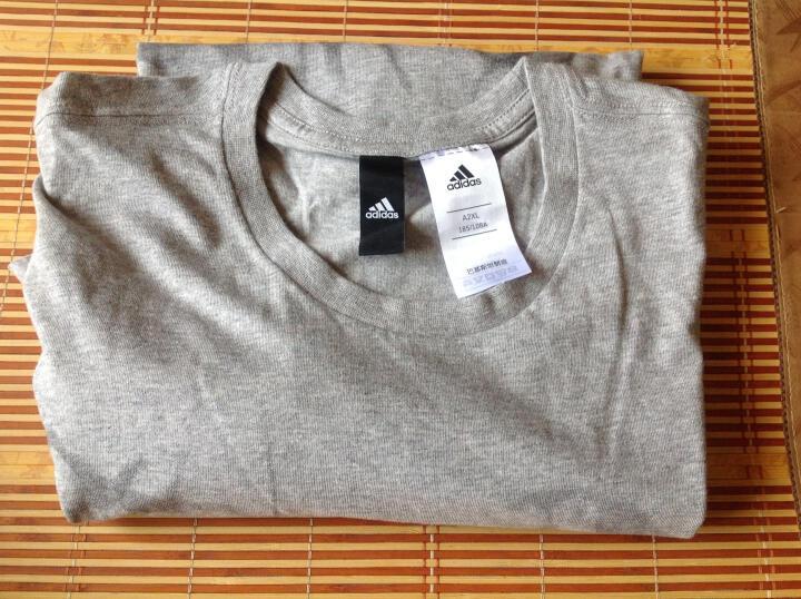 阿迪达斯adidas 运动服男款 休闲T恤 透气羽毛球服 BK2814 XXL码 灰色 晒单图