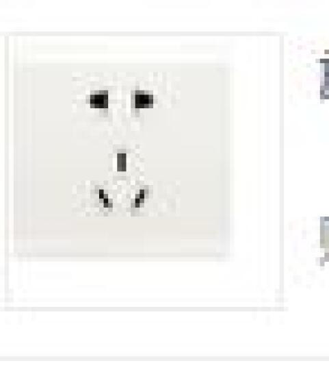 松下(Panasonic) 86型开关插座 空白面板 智趣系列 WMZ6891(雅白色) 晒单图