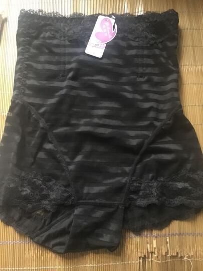 依曼安内裤女高腰产后塑身提臀收腹裤加大码夏季薄款透气束身女士内裤 肤色+黑色 2条 XXL (115斤--135斤) 晒单图