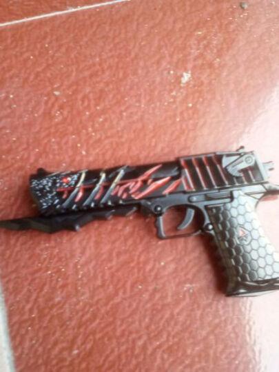 哥特斯CF穿越火线英雄无影AK47合金模型雷神金属玩具枪模钥匙扣挂件 18cm王者毁灭大炮 送枪架 晒单图