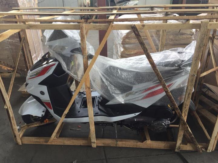山哥 尚领可上牌鬼火踏板车摩托车125cc燃油车男女式省油踏板车摩托车街车助力车跑车踏板车 红分黑白 晒单图
