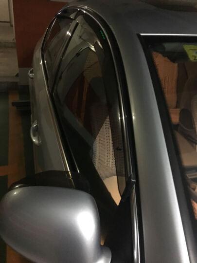 洛玛 车窗雨眉挡雨板晴雨挡 注塑带亮条遮阳遮雨档 雨帘 雨挡 长城哈佛H8 H9 斯巴鲁XV 晒单图