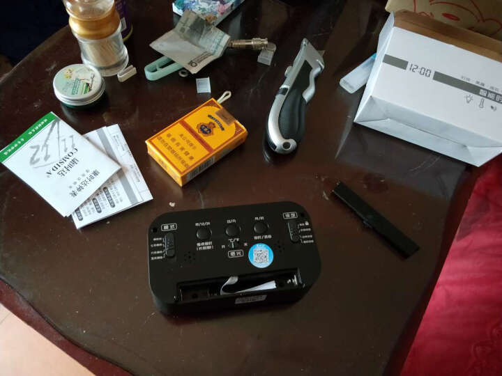 康时达(comsida)LED三组闹铃 带工作日 静音 电子光控闹钟静音懒人座钟 C9901黑色报时 晒单图