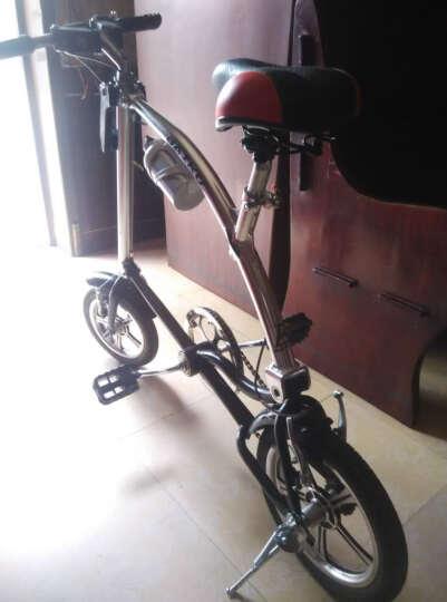 百酷 【京东派送】BAIKU折叠自行车运动款学生单车男女士通用山地车 银黑色 晒单图