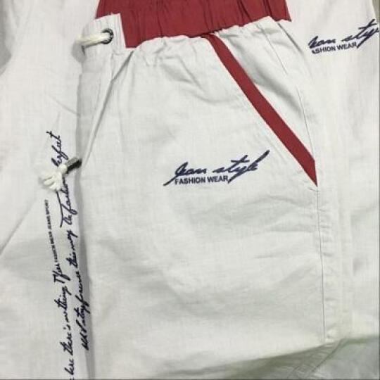 jeepic短袖T恤男2018男士韩版青年夏季半袖印花t恤套装男夏天休闲纯棉衣服 灰色 XL 晒单图