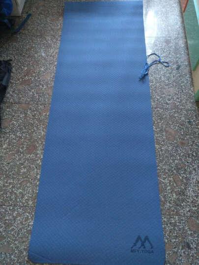 茗菲&瑜 TPE瑜伽垫防滑健身垫子环保双面女仰卧起坐运动垫平板支撑垫 双色深蓝(含绑带网包) 6MM 晒单图