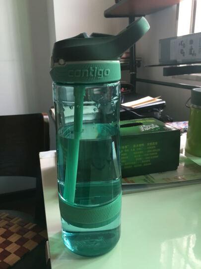 美国CONTIGO 塑料运动果茶吸管杯防漏滤网吸管杯便携随手杯 蒂芙尼蓝 560ml 晒单图