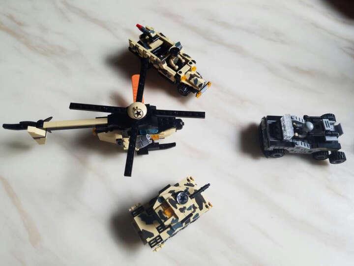 积高8合1航母积木玩具男孩兼容乐高军事拼装益智儿童玩具立体拼插6岁以上幻影忍者 8合1坦克大礼包 晒单图