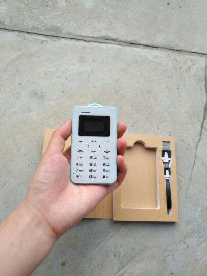 儿童迷你超小手机超薄袖珍可爱卡通手机个性男女学生按键卡片手机小天才电话 天蓝色 晒单图
