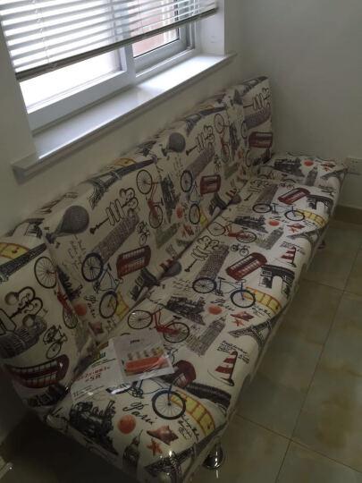 爵信家具 沙发床可折叠客厅双人小户型简易多功能单人迷你三人布艺懒人沙发 绒布自行车 双人坐1.5米长(不带抱枕) 晒单图