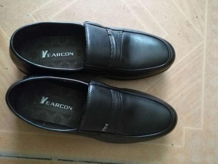 意尔康皮鞋日常休闲男鞋牛皮柔软舒适套脚爸爸鞋软面舒适单鞋6141ZA97662W 棕色 42 晒单图