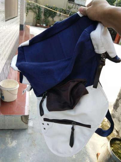 帆特西 男士休闲单肩斜挎包 韩版帆布男包 学生书包 V81005 素雅灰色 晒单图