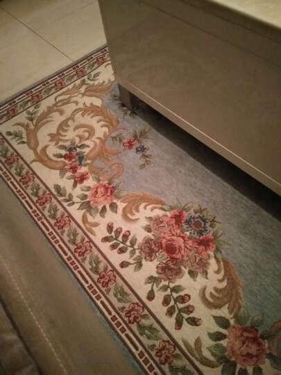 易普美家地毯客厅北欧美式乡村田园茶几花朵中式床边沙发家用卧室机洗 ES201绿色 2000MMx2500MM 晒单图