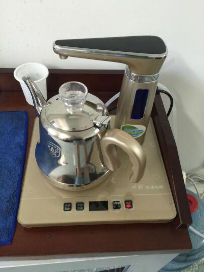 心好(xinhao) 智能遥控式全自动上水电热水壶  抽水式电水壶 电茶炉茶具套装H2 Q2金色单炉带遥控自动旋转 晒单图