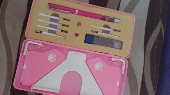哲趣 正姿护眼笔 防学生近视笔铅笔6-12岁儿童坐姿矫正笔文具盒套装 粉红色(三用) 晒单图