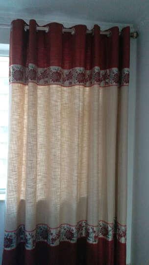 伊佳仁中式窗帘成品棉麻窗帘定制客厅飘窗隔音遮光布料窗纱帘 TT8056荷花纱 打孔3米宽*2.7高 晒单图