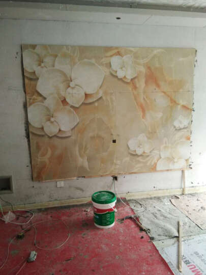 赛牧瓷砖背景墙 现代简约微晶石欧式3D电视墙客厅大理石仿古水木年华 3D高温微晶/0.1平方米 晒单图