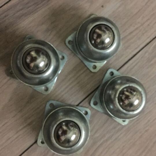 YOSIDA 牛眼轮钢球轮 脚轮万向轮机器人 尼龙牛眼球型轮万向传送球 304不锈钢牛眼轮机器运输轮 C款小号号四孔 晒单图