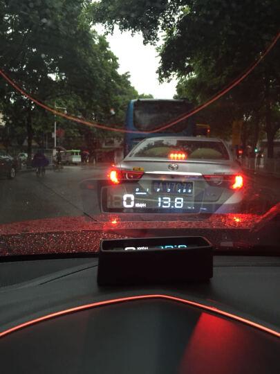 途行者 hud抬头显示器 obd汽车车载 投影仪 车速显示仪 汽车通用行车电脑 手机导航 普通款蓝白色(不带开关) 扁线 晒单图