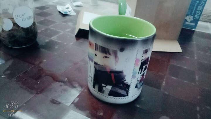 益好 创意生日礼物定制陶瓷情侣变色杯水杯 DIY个性马克杯子 送女朋友情人节礼物 绿色内彩 来图定制 晒单图