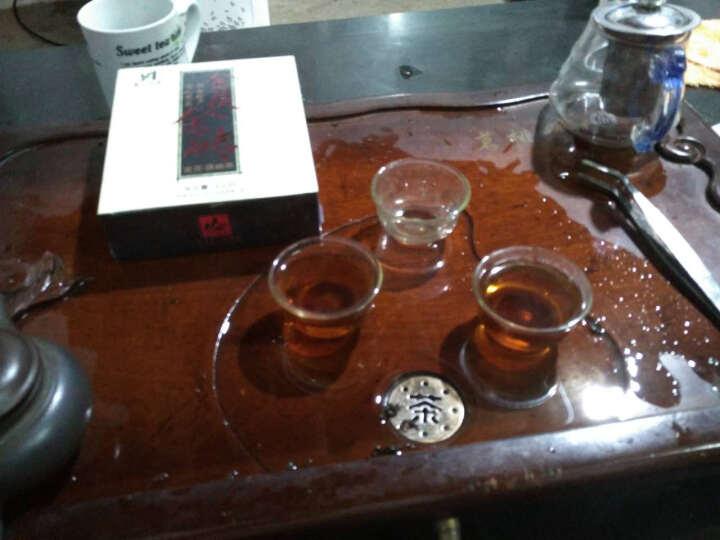 茗山生态茶 安化黑茶 金花茯砖 湖南手工茶叶 (买1发3盒送茶刀) 晒单图