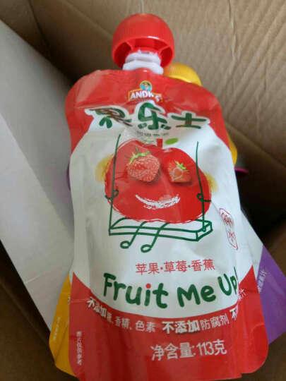 果乐士水果果泥 苹果蓝莓草莓黑加仑可吸果泥113g 晒单图