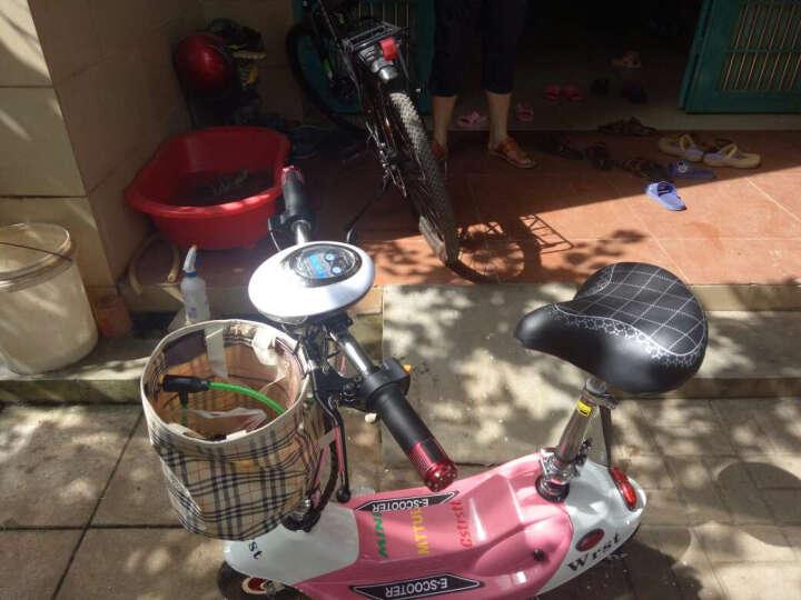 龙吟 女士迷你电动车 成人电动滑板车 小海豚电瓶车代步车 粉白色 续航50km+五重好礼 晒单图