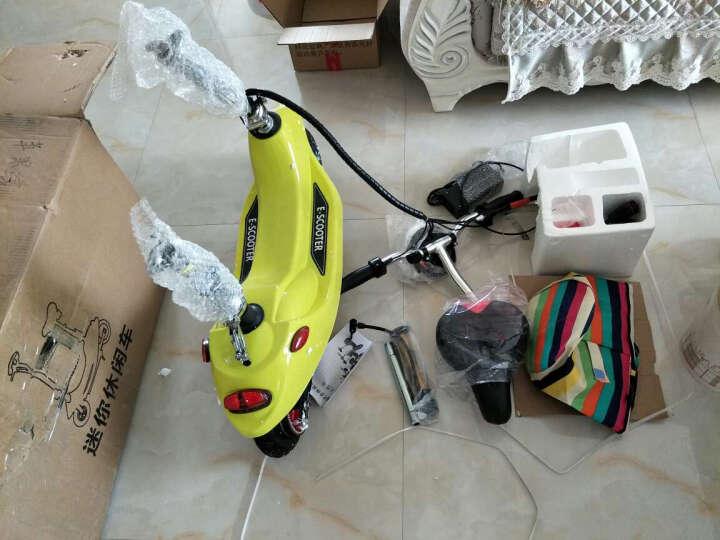 龙吟 女士迷你电动车 成人电动滑板车 小海豚电瓶车代步车 浅绿 续航50km+五重好礼 晒单图