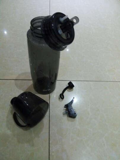 物生物喷雾水杯便携带盖塑料杯创意学生运动水壶太空杯子随手杯580ml 绿色 晒单图