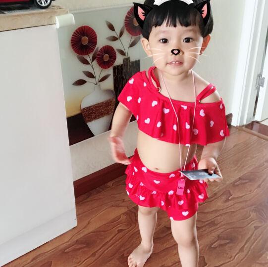 舒默(SHUMO) 舒默 新款儿童泳衣女童泳装可爱小中大童分体裙式女孩游泳衣 薄荷绿单件 3XL(建议身高130-140CM) 晒单图