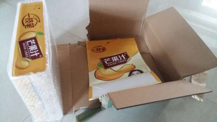 【莱阳馆】包邮一枝笔芒果汁饮料果肉果味饮品 灌装245ml*24罐礼盒 晒单图