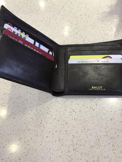BALLY 巴利 男士棕色真皮配红白织带短款对折钱包钱夹 TOLLEN.T/271 晒单图