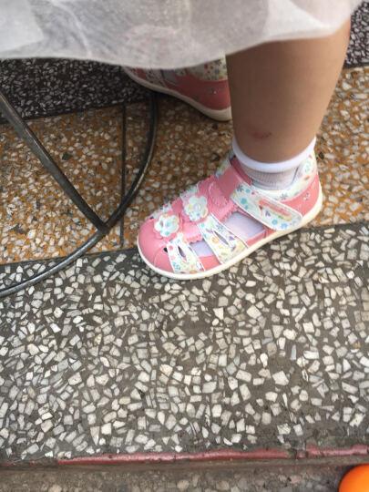 dr.kong江博士女童鞋包头婴儿鞋软底机能鞋女童宝宝凉鞋女1-3岁夏B14172W001 彩色 21码/内长13.3cm 晒单图