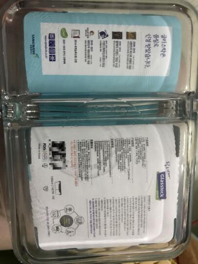 GLASSLOCK 饭盒 保鲜盒韩国进口钢化玻璃分隔饭盒微波炉碗便当盒保温袋 男生热卖款分隔1000ml+715ml 晒单图