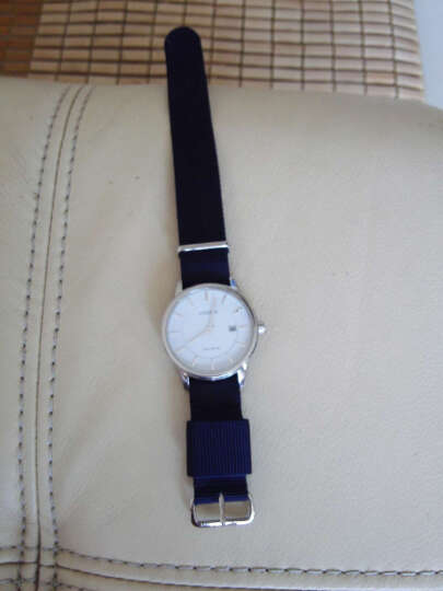 爱彼雅(a.b.art)表带男女士手表配件个性时尚学生多彩尼龙表带 (女款-金扣-粉白色)RG18-013S 晒单图