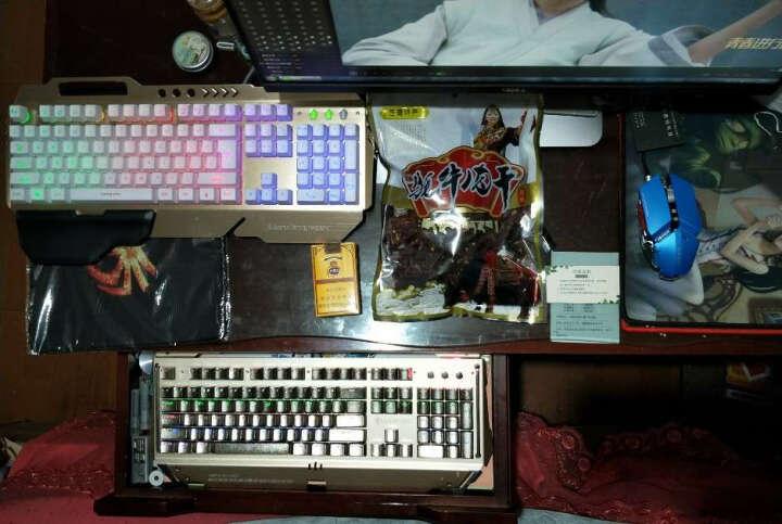 imice 游戏键盘鼠标套装有线金属悬浮背光牧马人风格发光机械手感键盘电脑网吧键鼠套装 MJ-009键盘+LDK鼠标黑色+耳机 晒单图