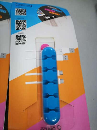 奥睿科(ORICO) 绕线器数据线缠线器电脑桌面理线器电线固线器耳机线收线夹 CBS5-5口蓝色 晒单图