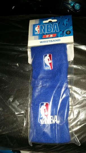 NBA纯色棉护腕毛圈篮球羽毛球护腕球迷用品护具蓝色 2只装 晒单图