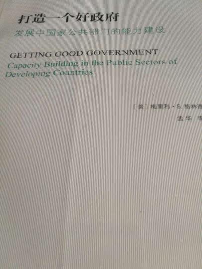 打造一个好政府:发展中国家公共部门的能力建设/公共管理名著译丛 晒单图