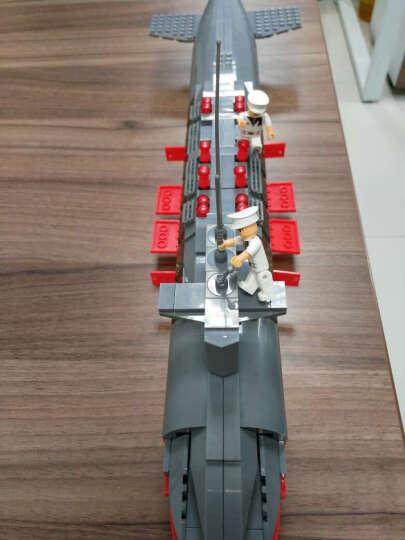 WOMA 沃马积木拼插益智男孩玩具立体模型拼装玩具海上军舰系列之航空母舰护卫舰儿童积木 J5628驱逐舰388PCS 晒单图