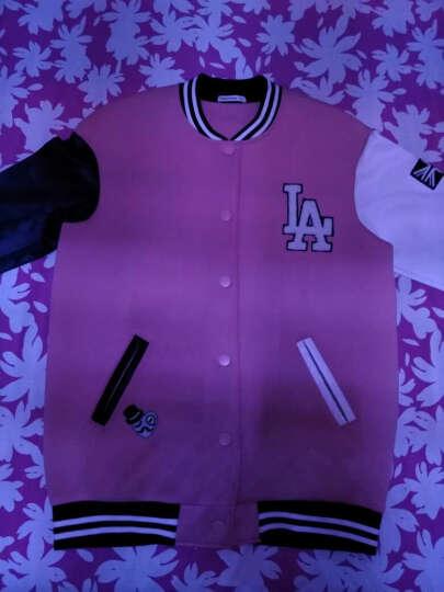 开衫卫衣2015秋女长款氯丁胶棒球领针织开衫 粉色组 160/84A 晒单图